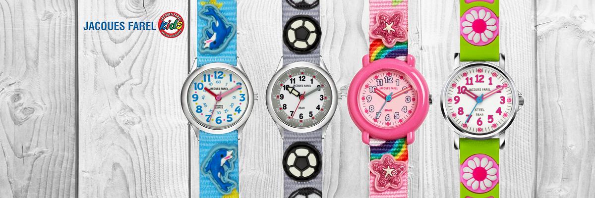 iesbrock Uhren Schmuck - Jacques Farel Kinder- und Jugenduhren, sowie Wecker mit beliebten Kindermotiven und 3D-Applikationen auf Band, Gehäuse oder Zifferblatt.